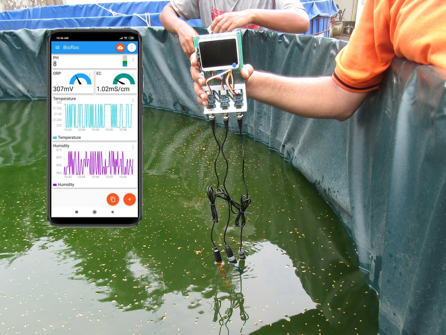 Biofloc Monitoring System (Powered By: Wio Terminal)