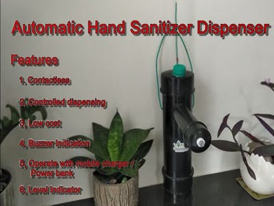 Automatic Hand Sanitizer Dispenser with on time delay