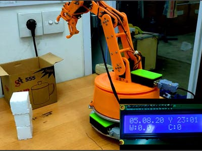 ARM Robot with weighing system