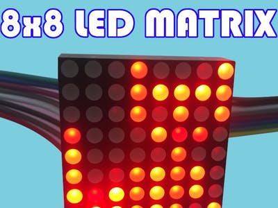 Controlling 8x8 LED matrix without drivers & libraries