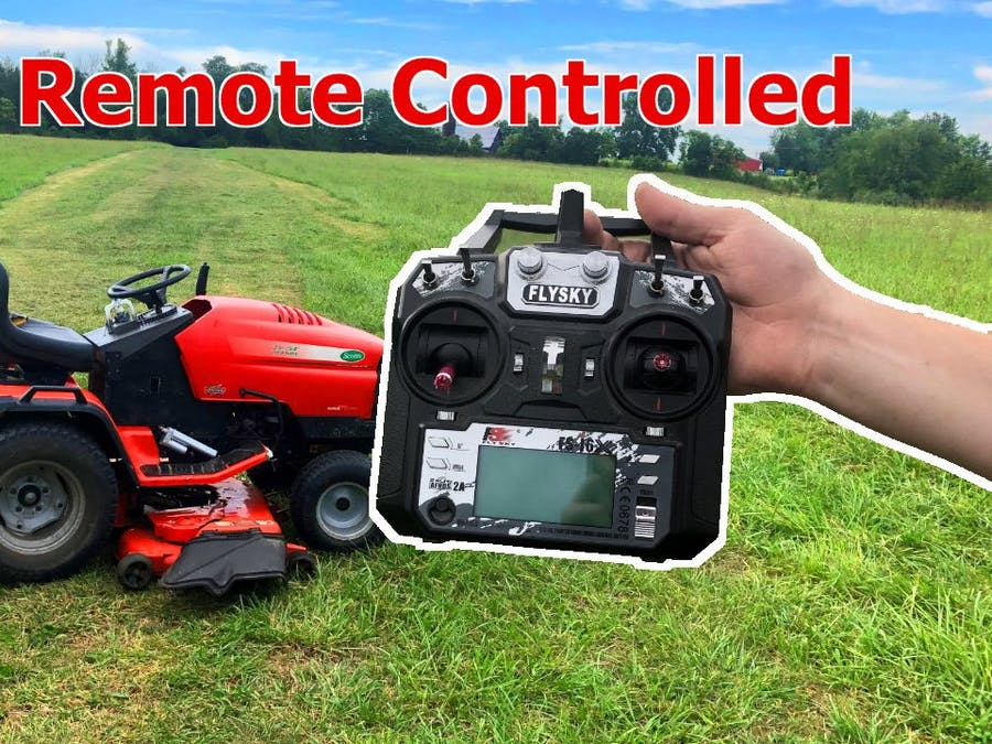 Remote Controlled Lawn Tractor