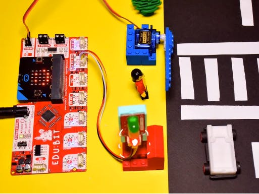 EDU:BIT Pedestrian Crossing Traffic Light | MicroPython