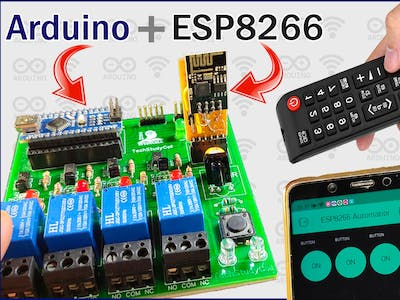 Arduino ESP8266 Control Relay with Blynk & IR