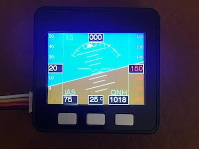 M5stack based PFD (Primary Flight Display)
