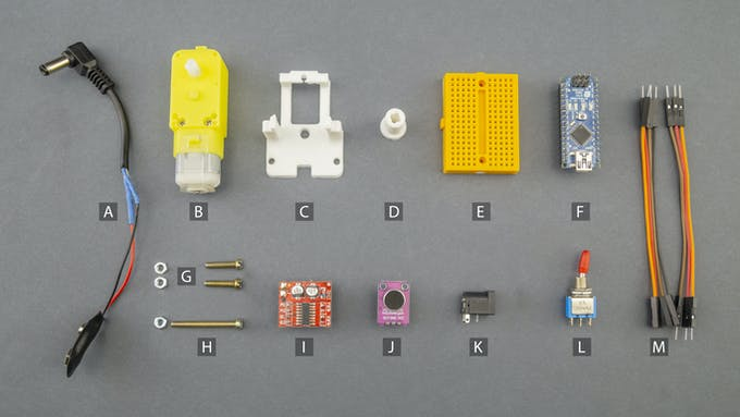 Fig. E – Electronic and electromechanical components