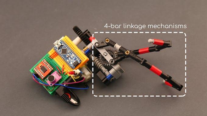 Fig. G - 4-bar linkage mechanisms of zipliner arm