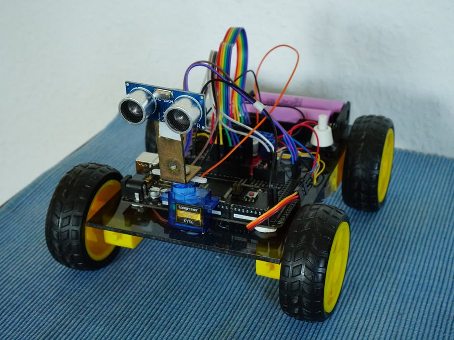 Smartphone Controlled Arduino Car with Auto-Mode