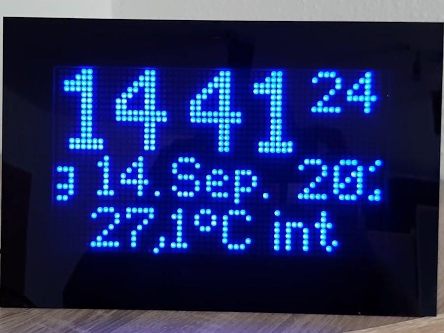 Yet another dot matrix clock