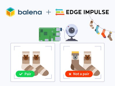 Classify Socks Using a Raspberry Pi, Edge Impulse and balena