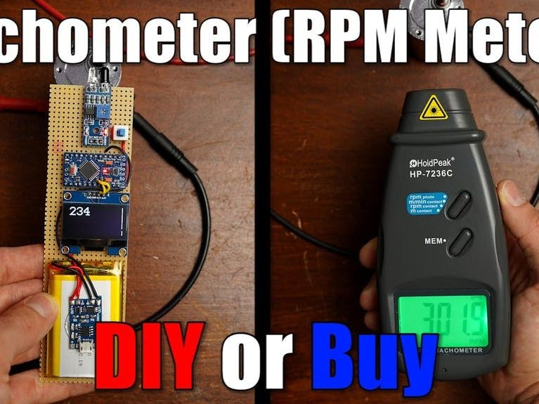 DIY Tachometer (RPM Meter)