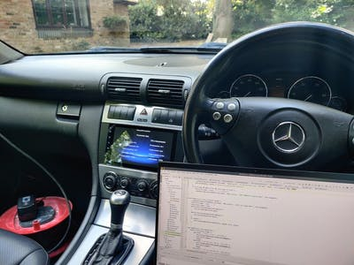 Custom Car Infotainment System for Old Mercs