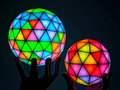 Geodesic(k) RGB LED Spheres