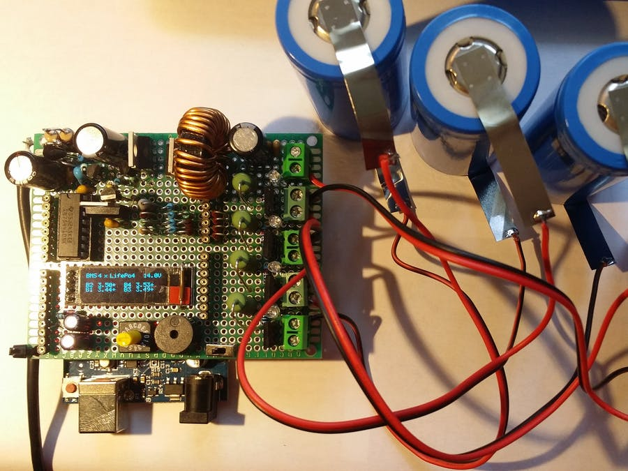 Li-ion LifePo4 1S to 4S BMS Charger Tester with Arduino Uno