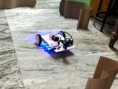 How to make obstacles avoiding robot