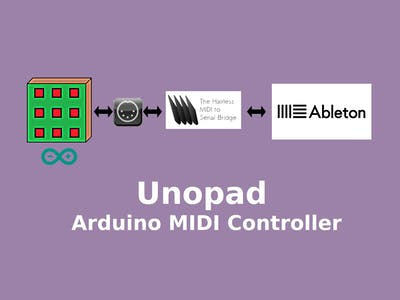 Unopad - Arduino MIDI Controller with Ableton