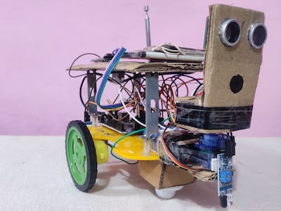 Auto Obstacle Avoidance & Table Edge Detection Robot