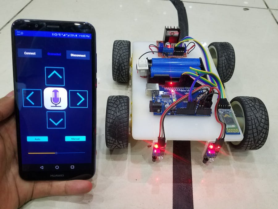 Line Follower and Android Application Control Robot