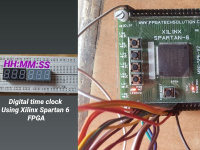 Digital clock (time watch) using FPGA