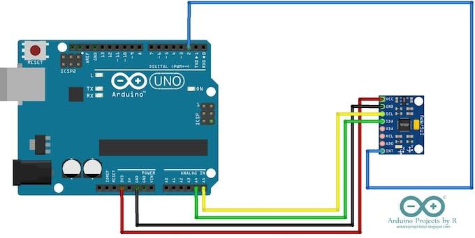 How to connect MPU-6050 sensor module to Arduino Uno