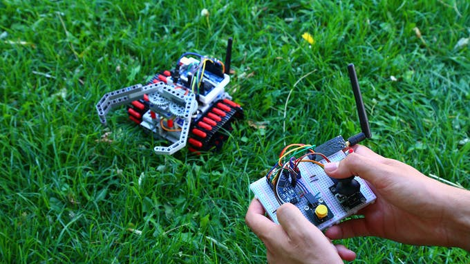 Fig. B - Remote control of rescue robot by an operator