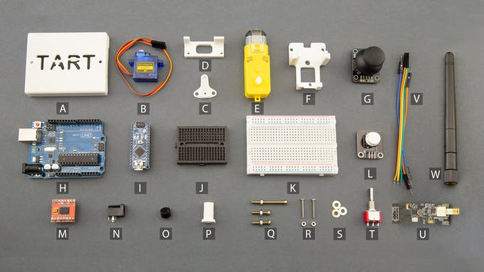 Fig. G - Electronic and electromechanical components