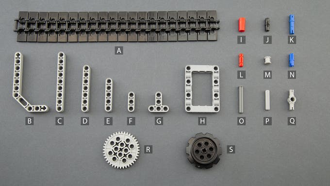 Fig. H - Lego Technic components