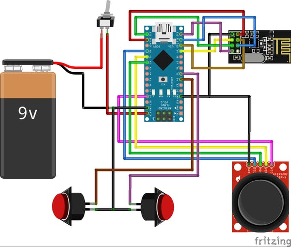 Fig. N - Schematic diagram of the operator console circuit