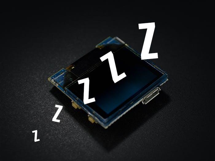 TinyScreen+ RTC, External Interrupt & Sleep Mode
