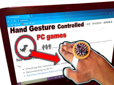 Hand Gesture Controlled Chrome Dinosaur Game/#smartcreativi