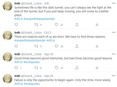 Uncle Iroh Twitter Bot