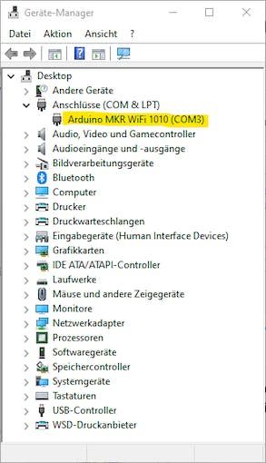 The virtual COM Port on my Windows 10 PC