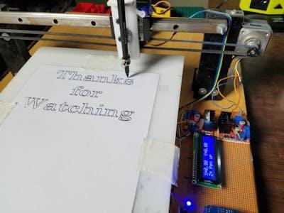 A4 Size CNC 2D Plotter