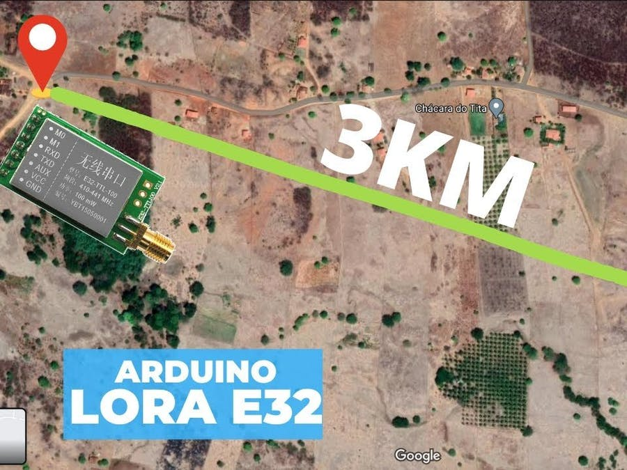 Two Arduinos communicating at 3km distance
