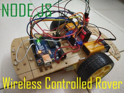 Node.js web page controlled Robotic Car (Wireless)