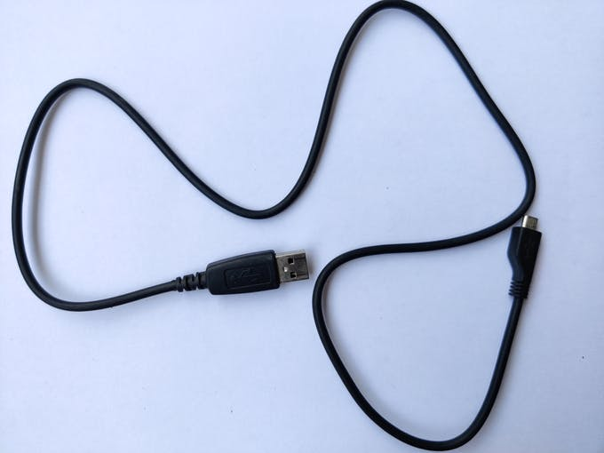USB-A to Micro USB-B cable