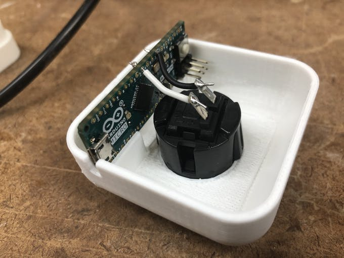 Soldered the Arduino to the Button