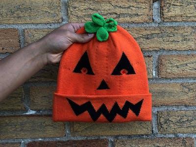 Spooky Pumpkin Beanie