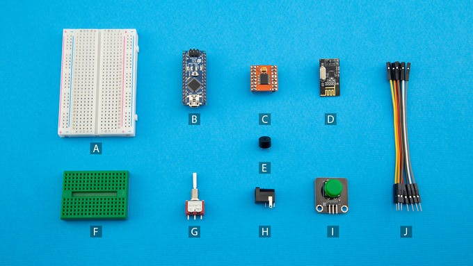 Fig. H - Electronic and electromechanical components