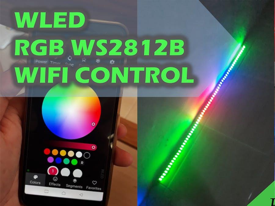 Control LED RGB WS2812B through Wifi and WLED