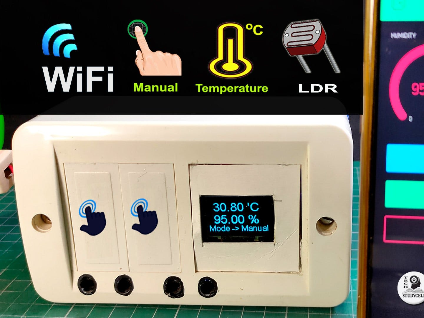 Home Automation With Nodemcu Ldr Temperature Control Relay