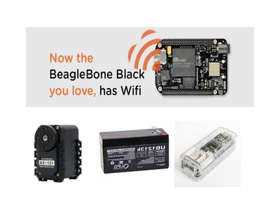 Dynamixel AX-12A, U2D2, the BeagleBone Black Wireless