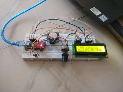 Arduino DS1307 RTC CLOCK