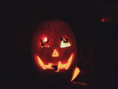 Answering Halloween Pumpkin