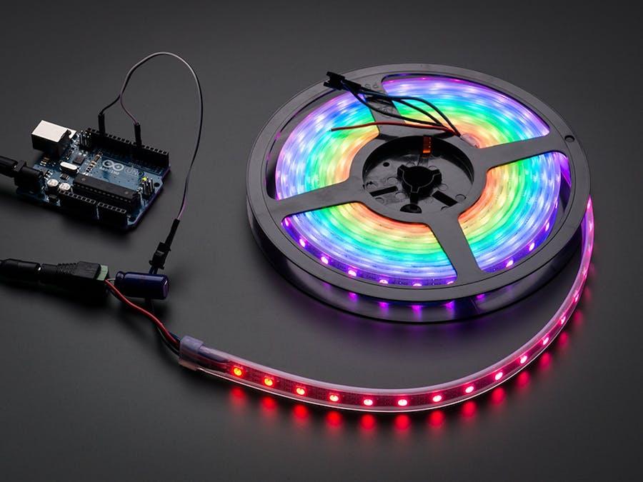 IR Controlled Individually Addressable RGB LED Strip