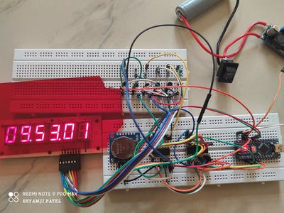 Arduino seven segment clock