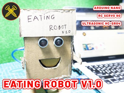 Make Eating Robot With Arduino Nano | Gold Screw