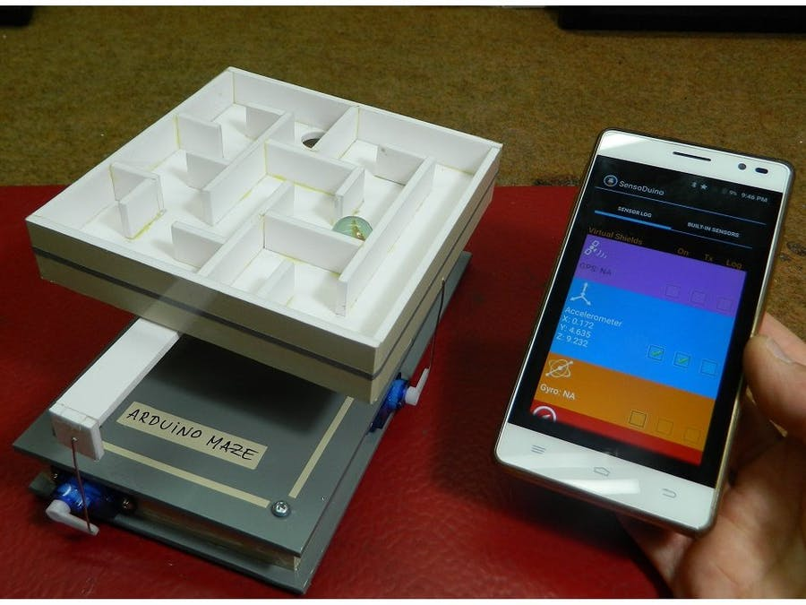 DIY Android+Arduino Controlled Labyrinth (Maze) Game
