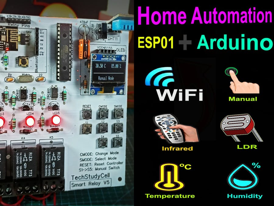 Home Automation Using Arduino and WiFi Module ESP01