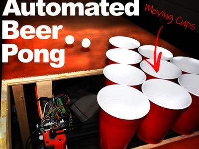 Automated Beer Pong Game - Moving Cups!