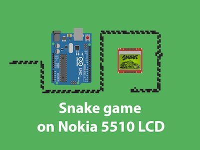 Snake Game on Nokia 5510 LCD
